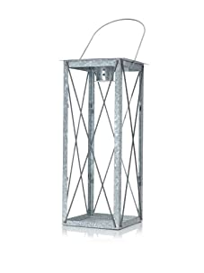 Esschert Design Old Zinc Outdoor Lantern, Large