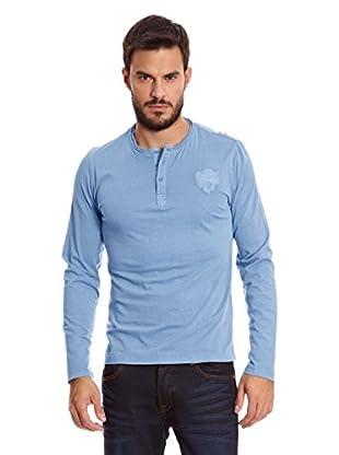 Paul Stragas Camiseta Manga Larga Randolph (Azul / Gris)