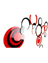 Naveed Arts - Acrylic 3D Wall sticker Décor for home and Office - Red and Black 20 Rings JB019S4RB- Factory Outlet