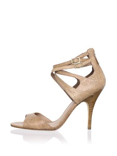 Delman Women's Esme Ankle Strap Sandal (Camel)