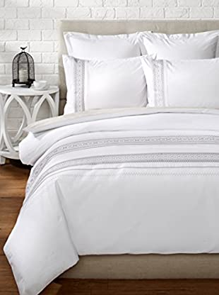 Mélange Home Cheyenne Embroidered Duvet Set