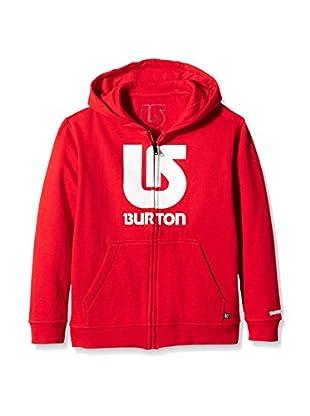 Burton Sudadera con Cierre Logo Vert Fiery