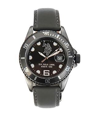 U.S. POLO ASSN. Uhr mit japanischem Quarzuhrwerk Preston grau 39 mm