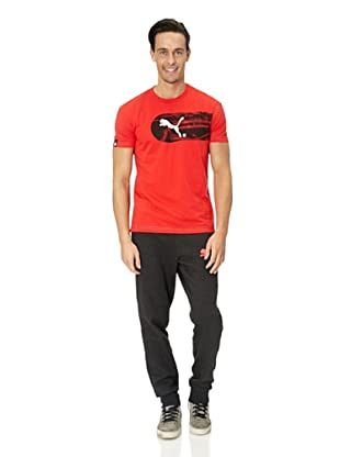 Puma T-Shirt Large Logo Graphic (tomato-black)