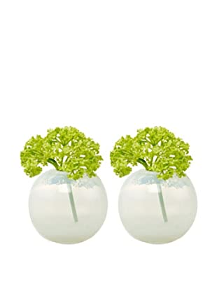 Chive Set of 2 Pearl Sphere Vases