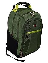"SwissGearÃ'® Skywalk 16"" Padded Laptop Backpack/School Travel Bag Green"