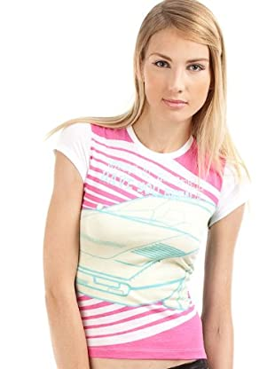 Custo T-Shirt Small Fast (Schwarz/Fuchsia)