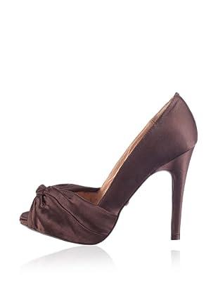 Buffalo London 107-7244 93908 - Zapatos de tacón con puta abierta  mujer (Marrón)