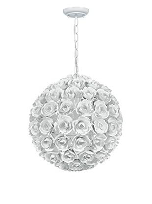 Gold Coast Lighting Cypress 1-Light Sphere Mini Chandelier, White