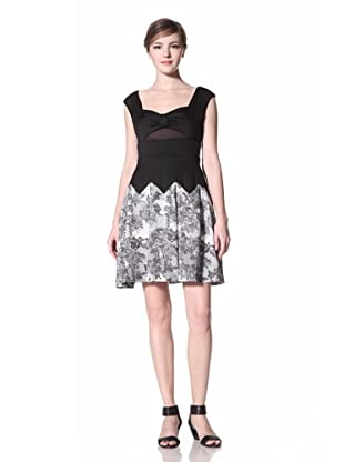 Eva Franco Women's Waverly Dress with Printed Skirt (Boudoir Lace)