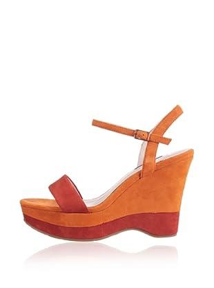 Belmondo Keil Sandalette (Orange)