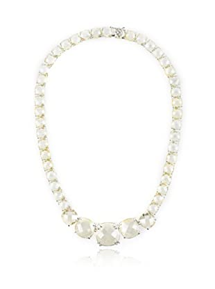 CZ By Kenneth Jay Lane Multi Faceted Cushion Cut Necklace, Silver, One Size