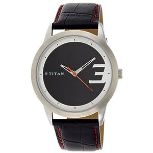 Titan Octane Analog Black Dial Men's Watch - NE1584SL02