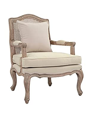 Jeffan Adele Occasional Chair With Wood Frame, Light Natural