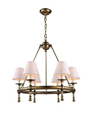 Urban Lights Montgomery Small 6-Light Pendant Lamp, Antique Bronze