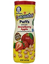 Gerber Graduates Puffs Cereal Snack Strawberry Apple -- 1.48 oz