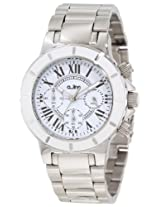 a_line Watches, Women's Marina Chronograph White Textured Dial Stainless Steel, Model 20106DV