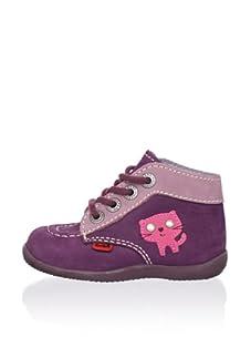 Kickers Kid's Brownie Kitten Sneaker (Violet)