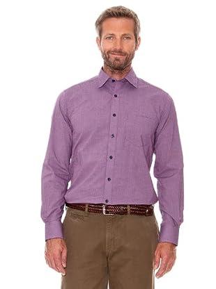 Cortefiel Camisa Cuadros Pequeños (malva)