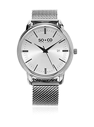 SO & CO New York Reloj con movimiento cuarzo japonés Date 41 mm
