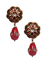Vidhi Enamel Dangle & Drop Earings For Women - Multi-Colour