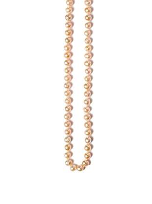 Alraune Halskette Perle pfirsich