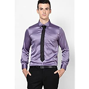 Solid Purple Formal Shirt