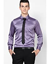 Solid Purple Formal Shirt