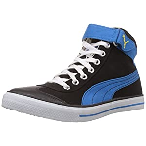 Puma Men's 917 Mid 2.0 Black, Blue Aster and Dandelion Mesh Boat Sneakers- 7 UK/India (40.5 EU)