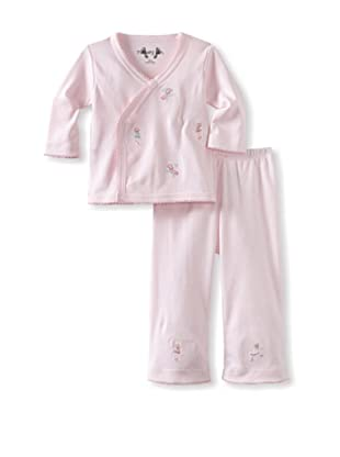 Margery Ellen Baby Pima Cotton Wrap Set with Embroidery (Ballerina)