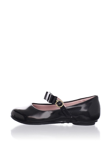 Pampili Kid's Bow Strap Patent Mary Jane (Black)