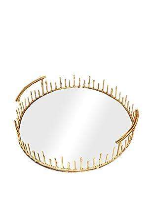 Rojo 16 Bamboo Tray, Brass
