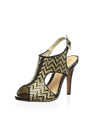 Schutz Women's Woven Sandal (Tribal/Black)