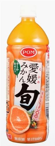 POM(ポン) 愛媛みかん旬ストレート100 1000ml 6本×2ケース (12本)
