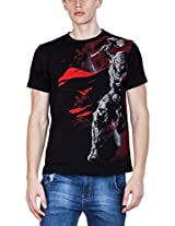 Zovi Cotton Angry Thor With Hammer Black Graphic T-shirt (10325706601_Small)