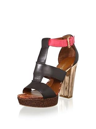 Boutique 9 Women's Rivington T-Front Sandal (Dark Brown)