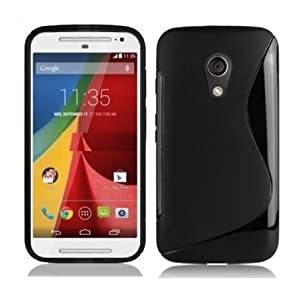S Line TPU Soft Silicon Gel Back Case Cover For Motorola Moto G2 Sec Generation G2