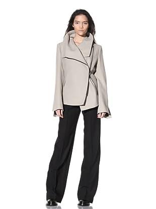 Ann Demeulemeester Women's Asymmetrical Zip Jacket (Mastic)