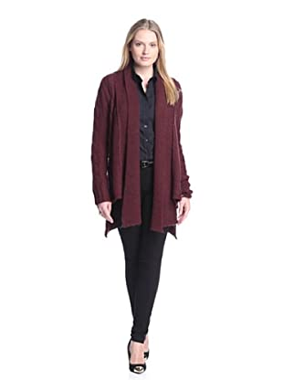 AS by DF Women's Emily Drape Cardigan (Bordeaux Wine)