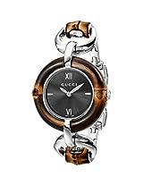 Gucci Women's YA132401 Bamboo Black Sun-Brushed Dial Watch