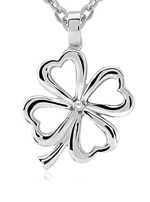 Divas Diamond Conjunto de cadena y colgante Diamond Clover