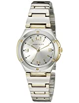 Anne Klein Womens 108655SVTT Two Tone Round Dress Watch