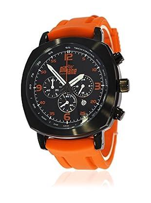 Pit Lane Uhr mit Miyota Uhrwerk Pl-1005-4 orange 42 mm
