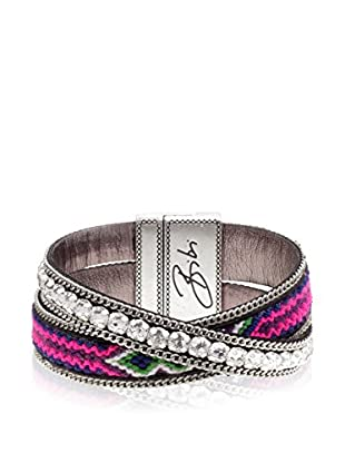Bibi Bijoux Armband Bohemian mehrfarbig/silberfarben
