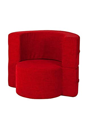 Best seller living Sillón Puff Mini Macaron Rojo