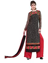 Viva N Diva Black Color Georgette Suit.