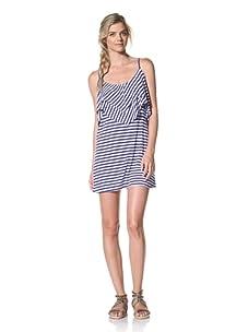 Luna  Women's Heather Tank Dress (Ocean/White Stripe)