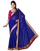 Saree Swarg Saree (Royal Blue)