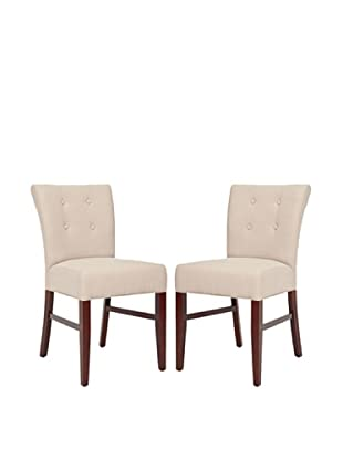Safavieh Set of 2 Trevor Side Chairs, Taupe