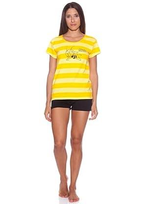 Licencias Pijama Rayas Amarillas Abeja Maya (Amarillo / Negro)